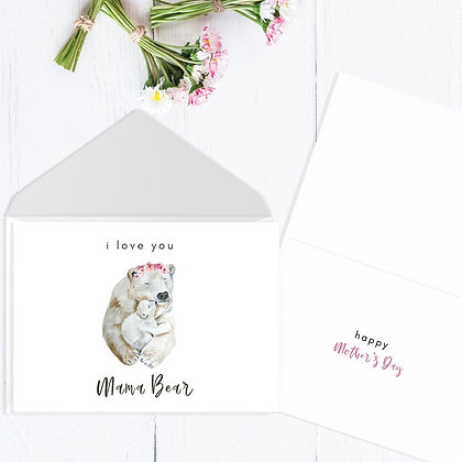 Mama Bear, Mother's Day Card by Liffey Pop Designs