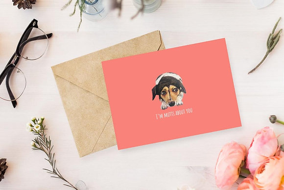 I'm Mutts about You, Card by Liffey Pop Designs