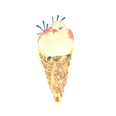 Tan Peacock Ice Cream Bird