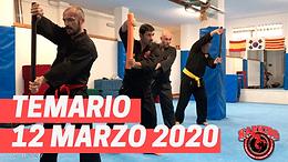 12 de Marzo 2020 Temario