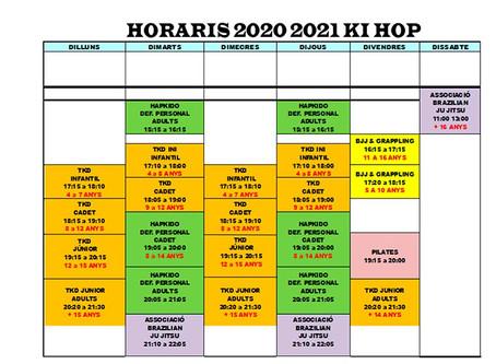 Horario 2020-2021 Club Kihop Figueres