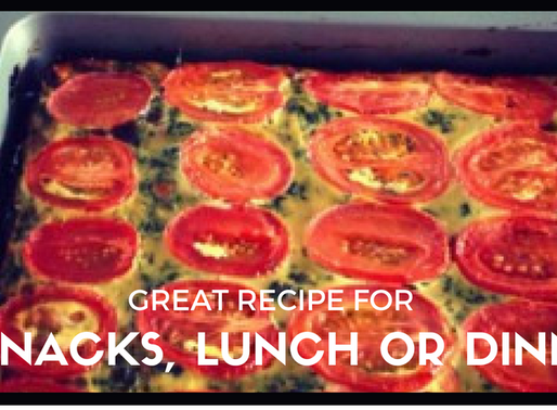 Great recipe for snacks, lunch or dinner