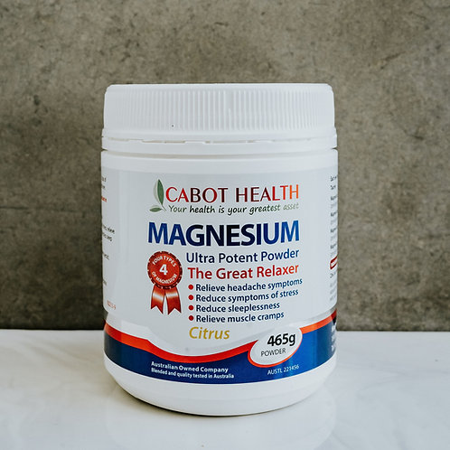 Magnesium Ultra Potent Powder Citrus 465G