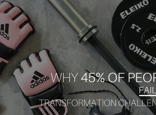 Why 45% of People Fail Transformation Challenges