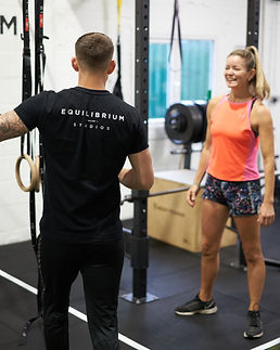 Happy client personal training session