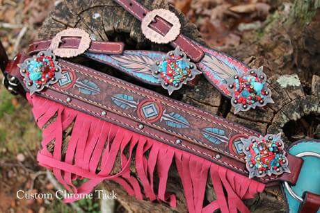 Pink breast collar