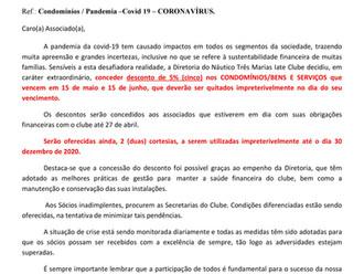 Condomínios/Pandemia COVID 19