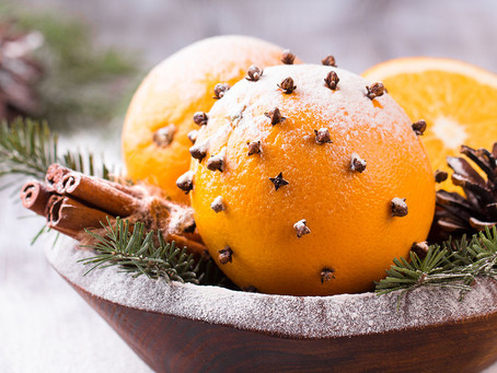 Spiced Oranges at Christmas