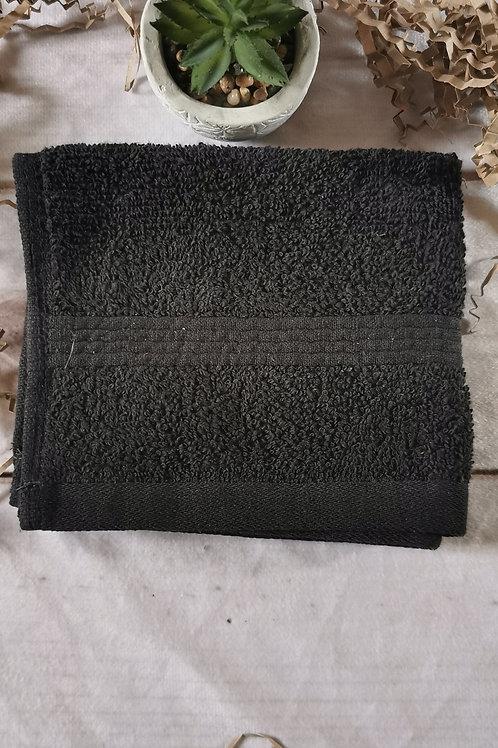 Organic black cotton face towel