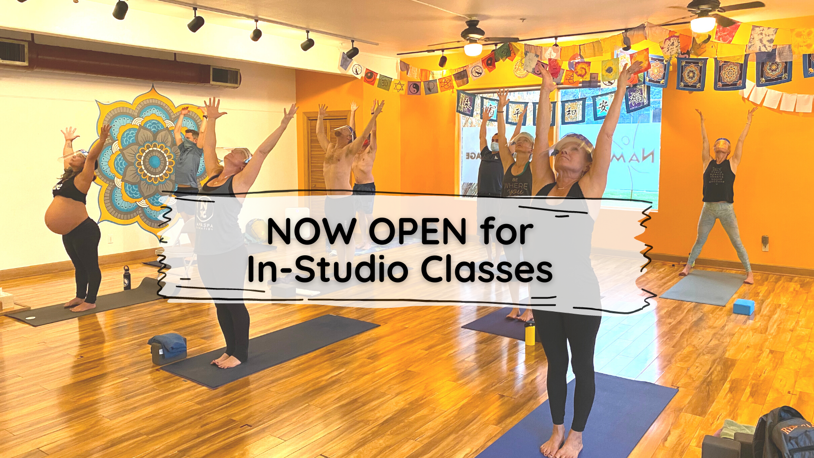In-Studio classes resume Friday, January