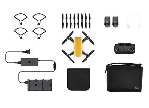 DJI Spark Mini Drone - Fly More Combo With Remote ; Accessories - Al