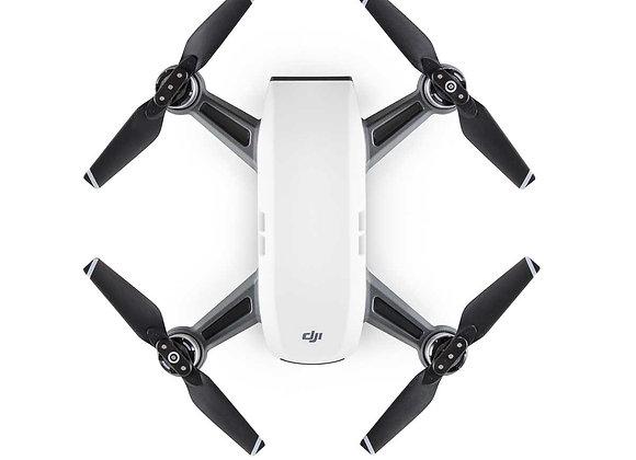 DJI Spark Mini Quadcopter Drone - Alpine White - 1080P Video 12MP Photos