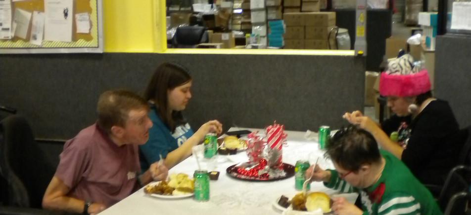 Dining together