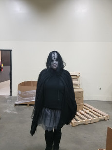Keri in creepy costume