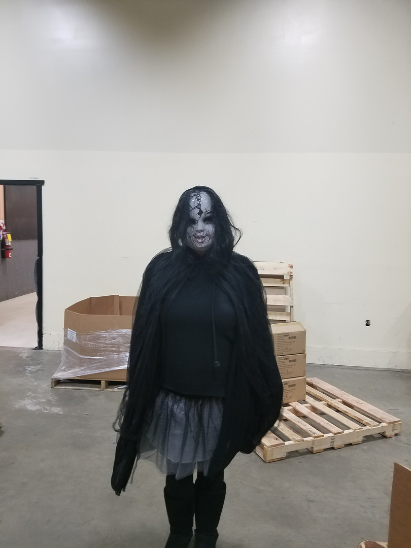 Keri in creepy costume