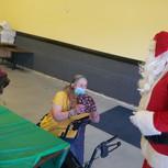Santa visits Toni