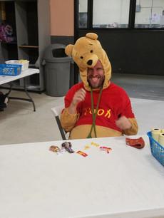 Robbie as Winnie the Pooh