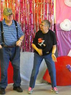 Mike and Kim dancing the Polka