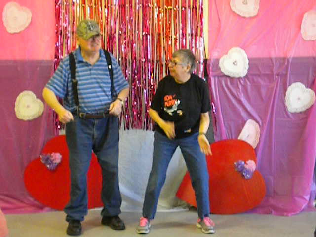 Mike and Kim dancing the Polka