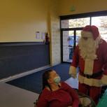 Santa visits Sandra