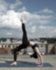 Girl Doing Yoga on a Rooftop