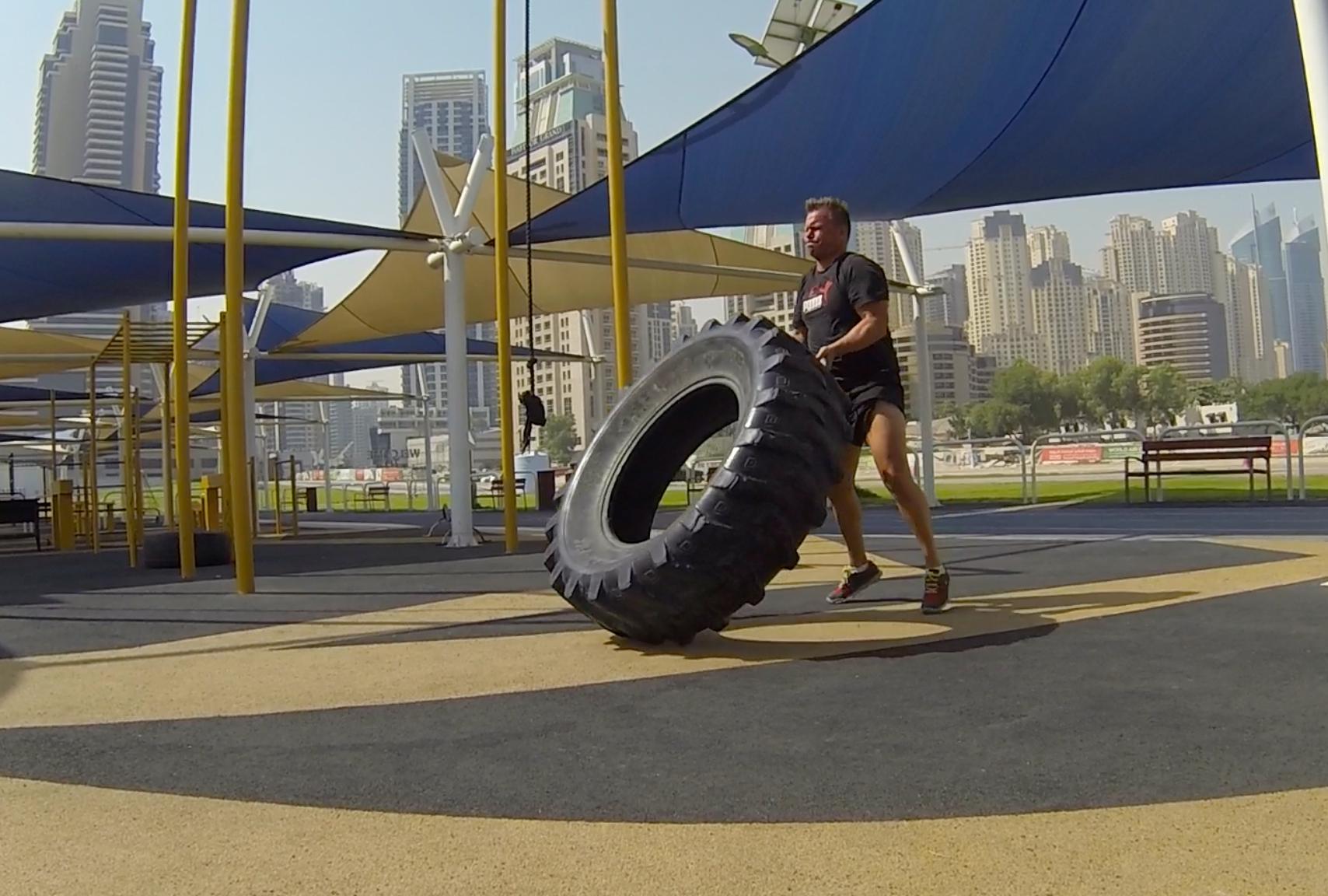 Outdoor Gym at Dubai Marina