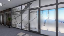 Porte de bureau en verre