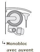 Croquis store banne monobloc