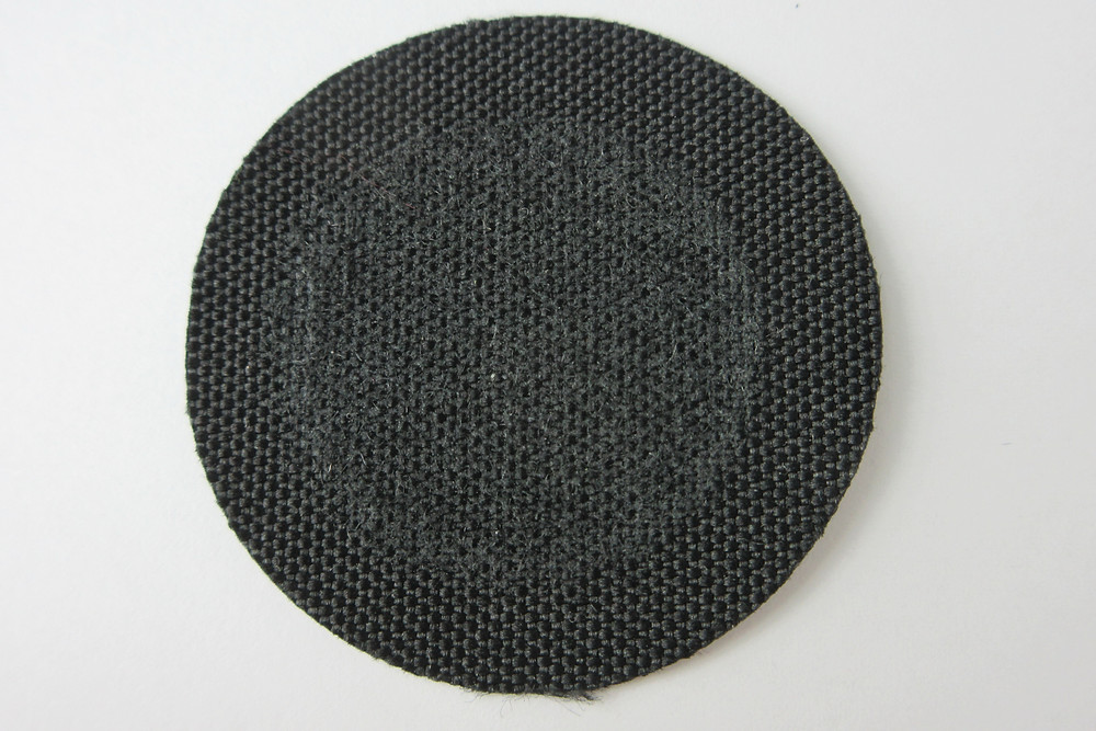 600D Polyester after 25,600 cycles of abrasion test