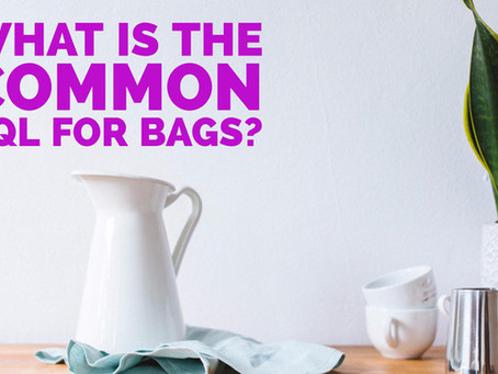 What is the common AQL (Acceptable Quality Limit) for Bags?