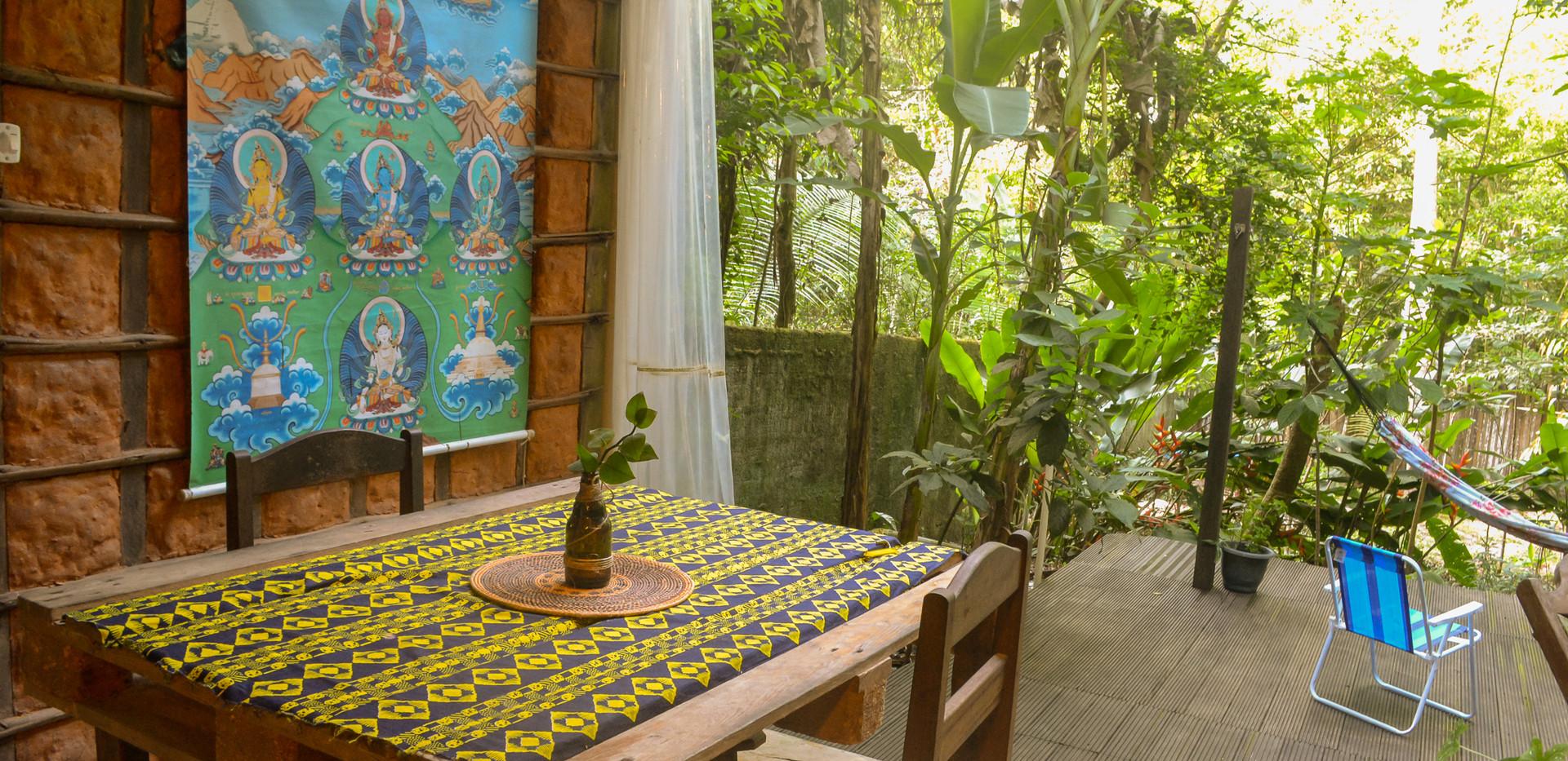 sala de jantar e deck