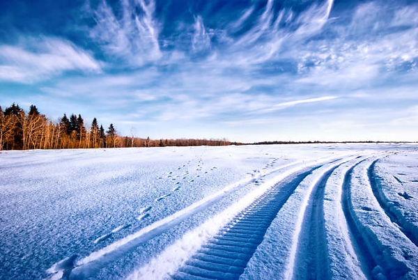 Piste de moto neige