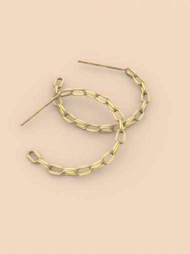 Circle the Chain Earrings