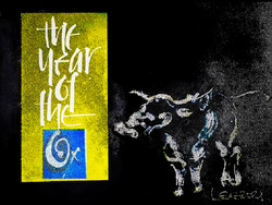 Watercolor Year of Ox