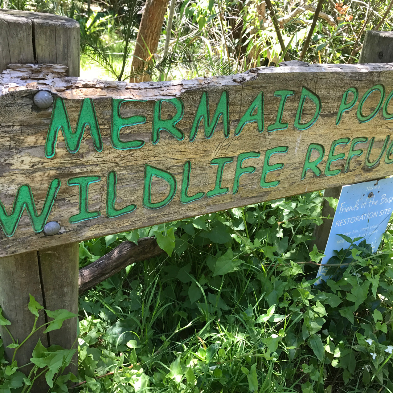 Mermaid Pools sign