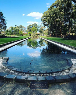 The Reflection Pool, Auburn Botanic Gardens_ Gateway to the formal areas of the Botanic Gardens