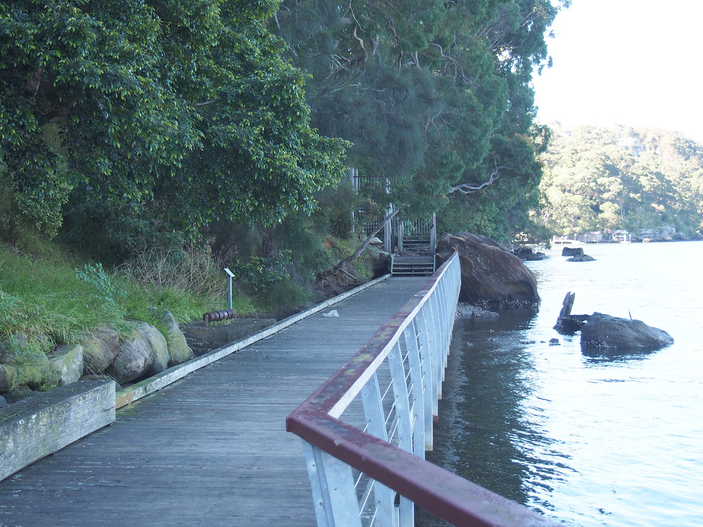 The boardwalk and marina. Note the steel rope rollers from the Lugarno ferry.