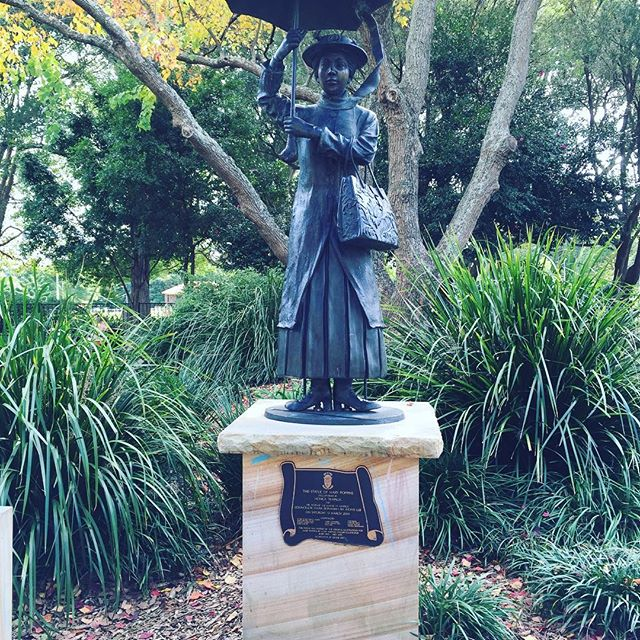 Mary Poppins statue, Ashfield Park Ashfield
