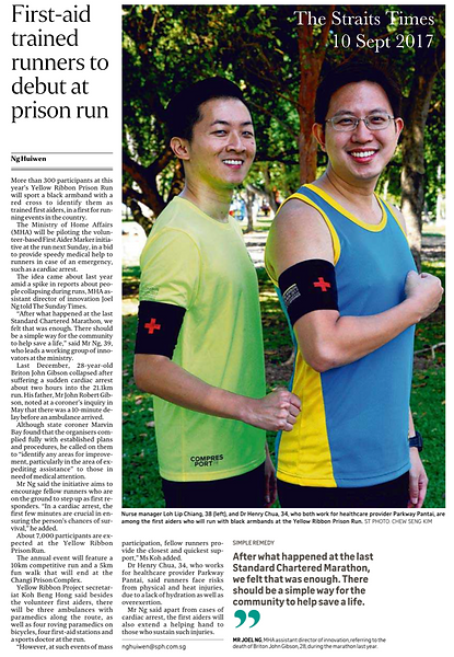 Straits times article on Yellow Ribbon