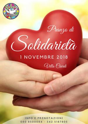 Pranzo di solidarietà 2018