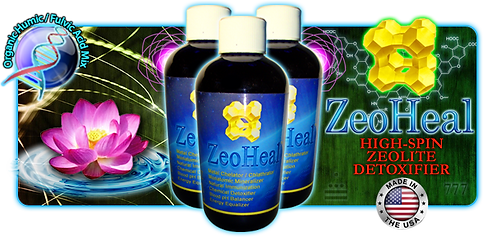 ZeoHeal Zeolite Humic Fulvic Acid High-Spin Water Lotus
