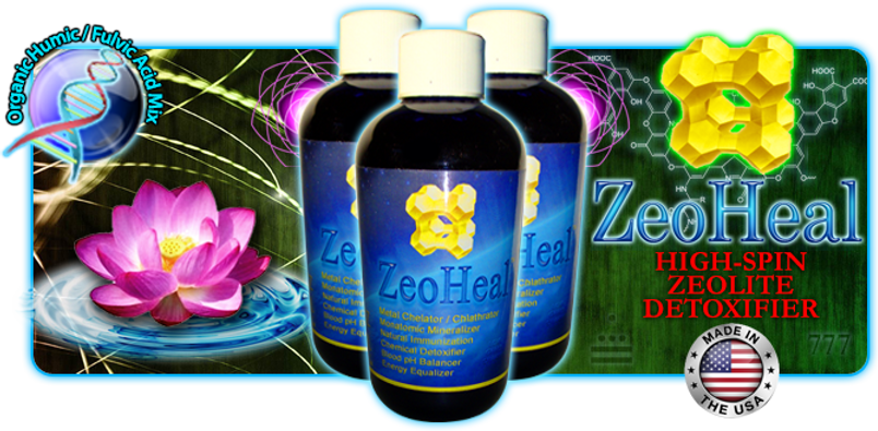 ZeoHeal Zeolite Humic Fulvic Acid Wayback Water Lotus