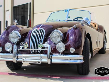 Two Vintage Porsche's, and a Jaguar