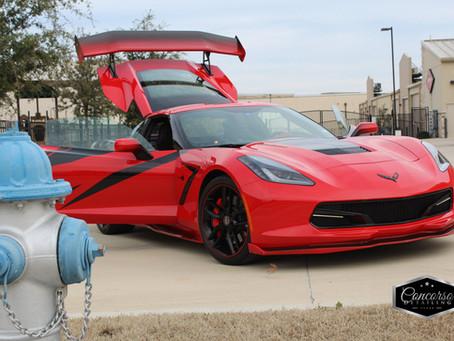 A Corvette, a GTO, a McLaren, and a Cobra!