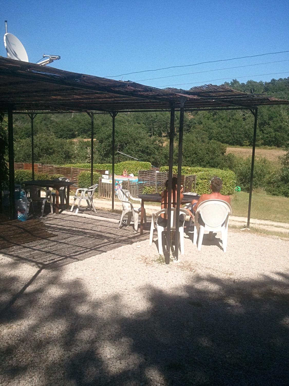terrasse du camping