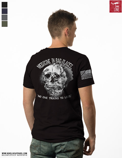 Nine Line Smoke / Skull - Black