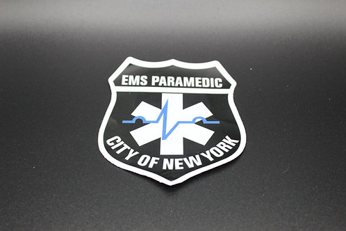 City of New York Paramedic Sticker- Relfective