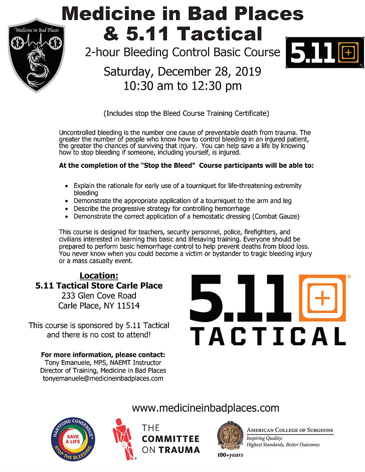5.11 Tactical Carle Place Stop the Bleed
