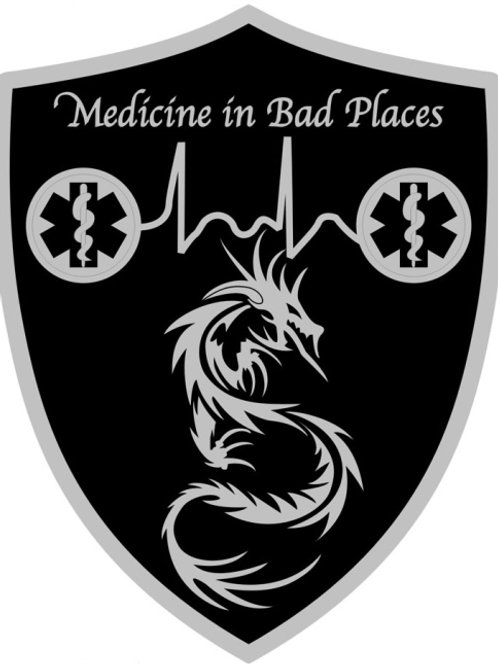 Medicine In Bad Places PVC Logo Patch (Velcro back)