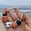 Thumbnail: Colar da Terra Cerâmicas laranjas e azuis